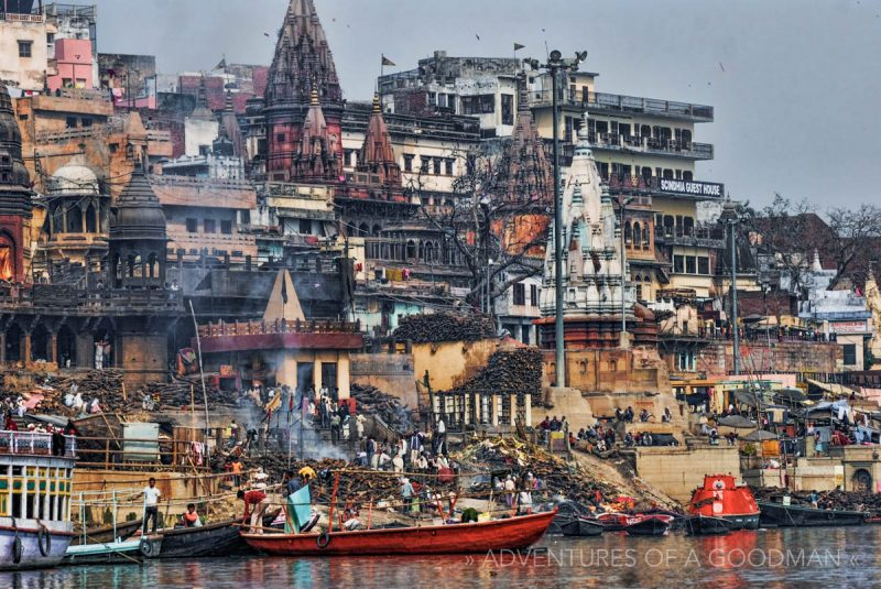 The burning ghats of Varanasi, India