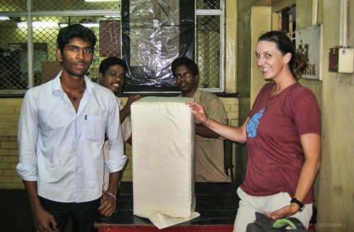 Sending a package in Chennai, India