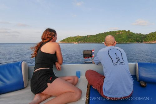 Carrie and I look out to the Similan Islands