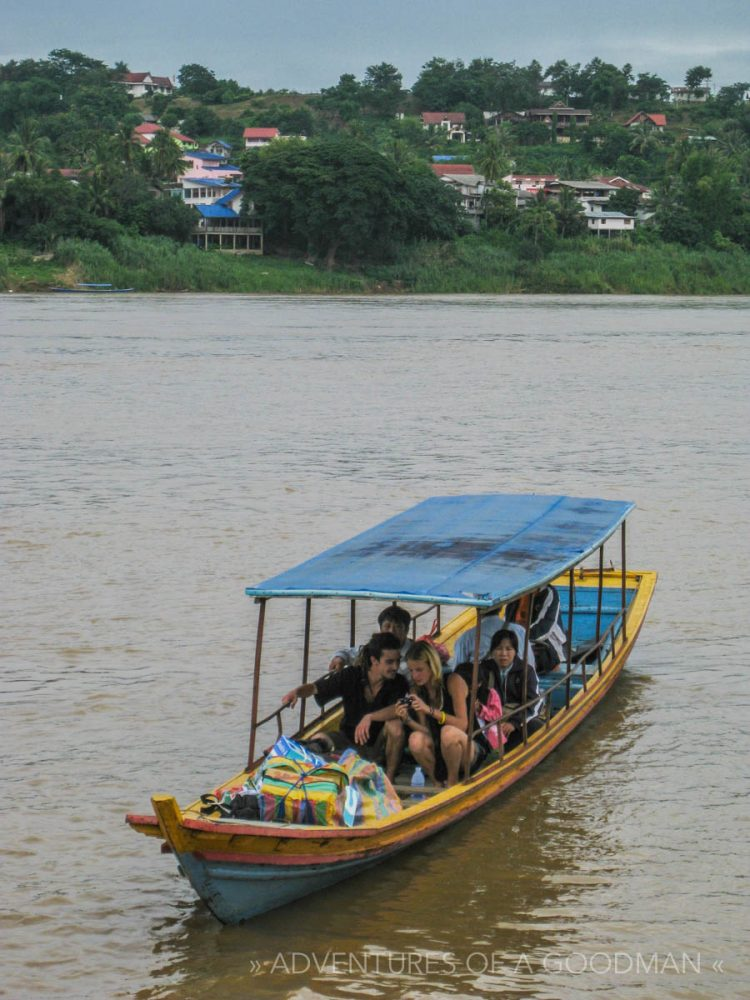 The boat between Chiang Kong, Thailand, and Houayxai, Laos