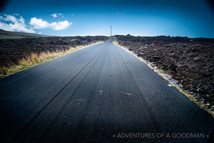 Last road to Kehei in Maui, Hawaii