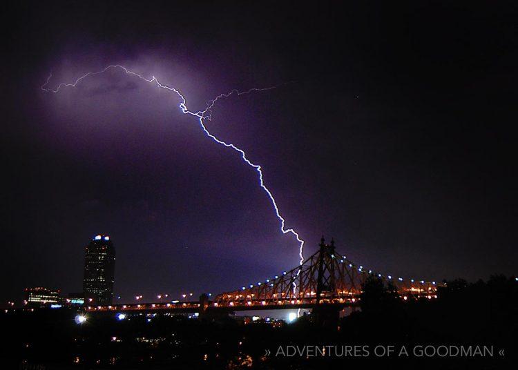 Queensboro Bridge Lightning Storm