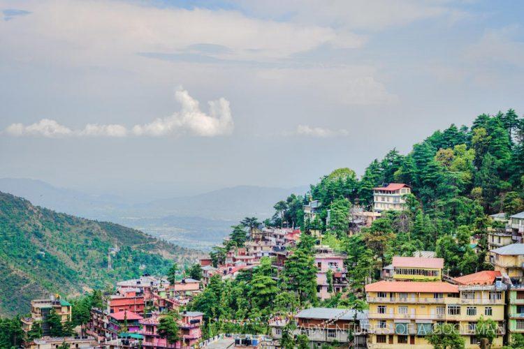 The McLeod Ganj skyline in Dharamasala, India