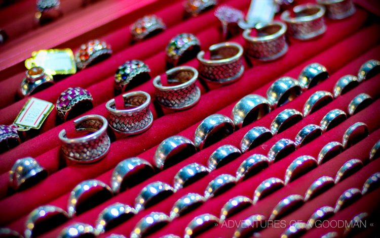 Rings For Sale - photographed at f/1.8, 1/125s exposure, ISO 400