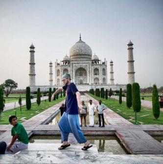 Moonwalking at the Taj Mahal