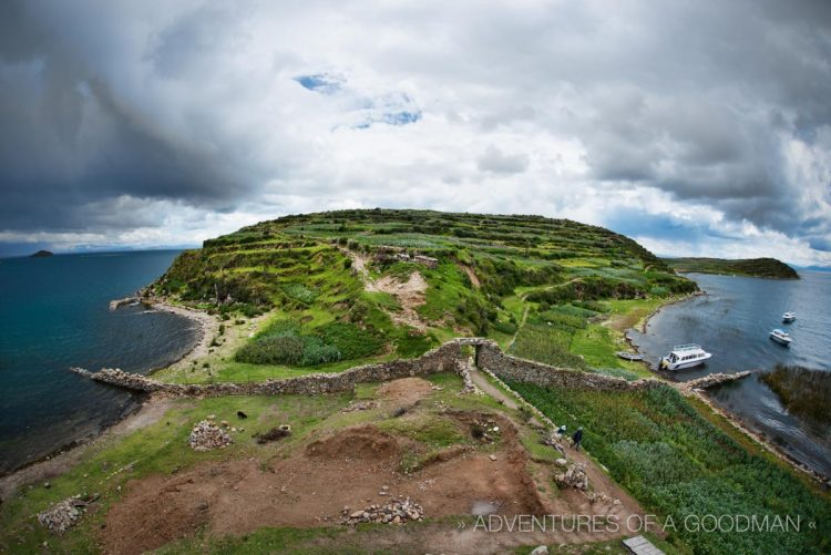 The northernmost tip of Isla del Sol.