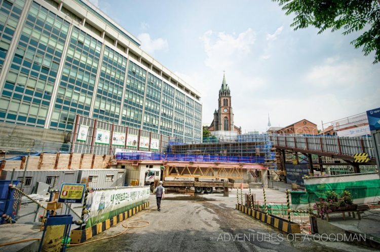 Pretty soon, the Myeong-Dong Cathedral will be completely surrounded by office buildings