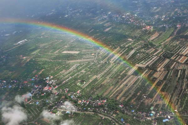 Rainbows await you upon arriving in Chiang Mai, Thailand
