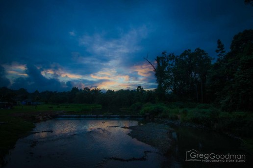 Sunset in Khao Yai National Park in Thailand