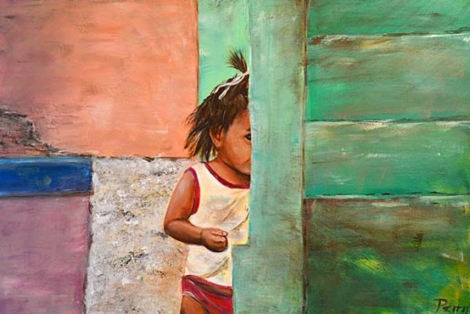 Honduras Girl. a painting by Perry Greek
