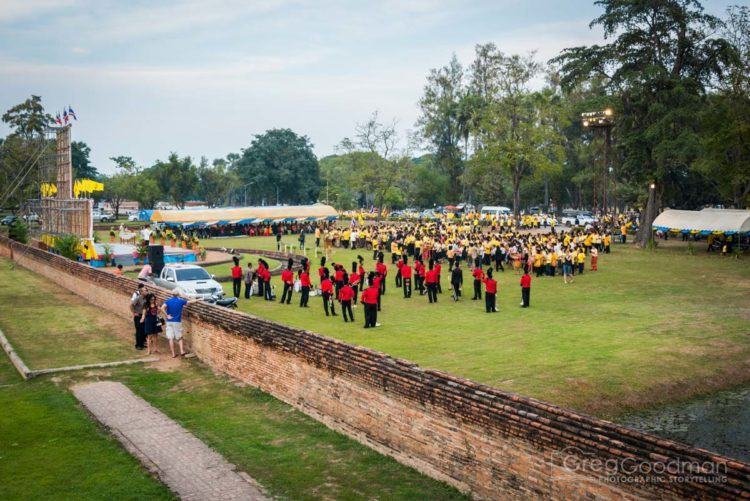 Bands line up to play a tribute to King Bhumibol Adulyadej