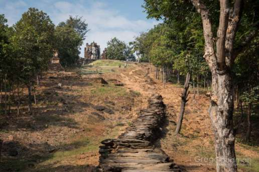 Get ready to huff and puff as you work your way up these steep stairs to Wat Saphan Hin