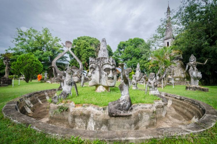 Surreal statues cover Buddha Park