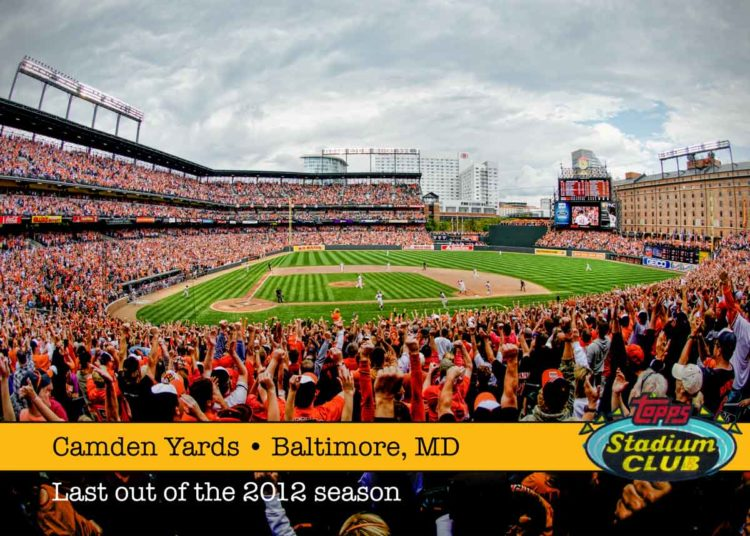 1991 Topps Stadium Club - Camden Yards after the last out of the 2012 season